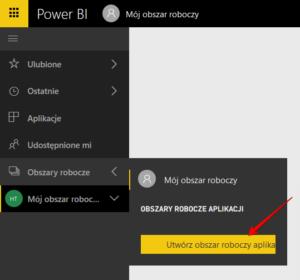 Tworzenie obszaru roboczego aplikacji po stronie powerbi.com